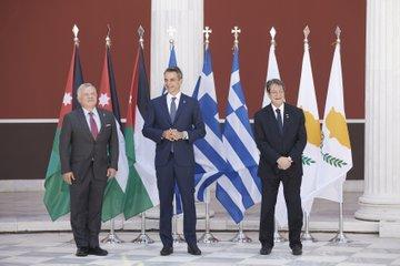 Ο Πρωθυπουργός στη σύνοδο Κορυφής Ελλάδας-Κύπρου-Ιορδανίας.